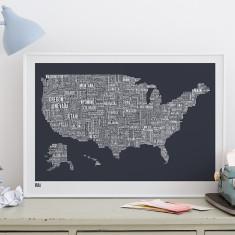 Bold & Noble USA type map