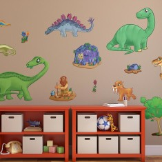 Children's dinosaur wall stickers pack one