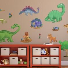 Children's dinosaur wall stickers pack one