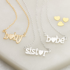 Love Bonds baby and Sister necklaces