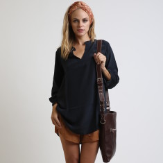 Tilly long sleeve silk top
