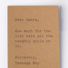 Dear santa notebook