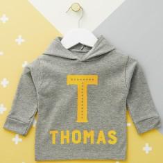Initial Personalised Baby Hoodie