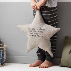 Star shaped You can't always see the Stars Cushion