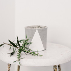 Raw Impressions white concrete candle