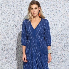 Quinn bindi navy dress