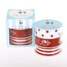 Christmas French bird ribbon box