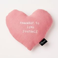 Heart Shape Remember to Love Yourself Cushion