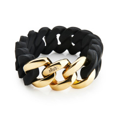 Woven bracelet in black & gold