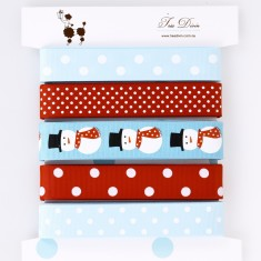 Ribbon card in snowman