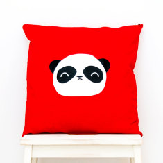 Wise Panda - Kawaii panda face Cushion Cover