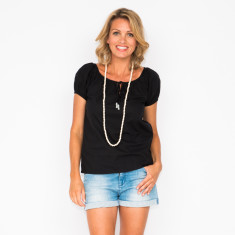 Suzie top in black