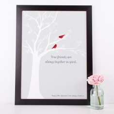 Personalised friendship art print