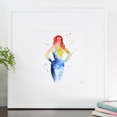 Rainbow Shadow Print