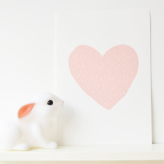 Valentine heart dash print