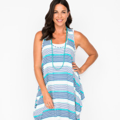 Cira stripe navy dress