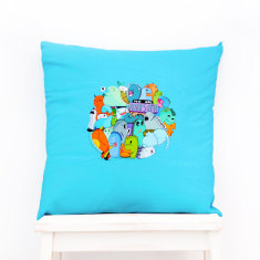 Roarsome - Kawaii Dinosaur Cushion Cover