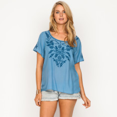 Pippa plain light blue top
