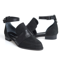 Venus d'orsay flats in black