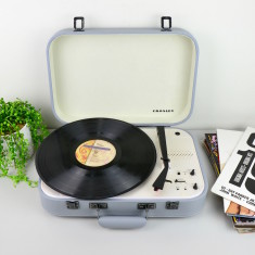 Crosley Coupe Bluetooth Vinyl Record Turntable With Pitch Control - Grey
