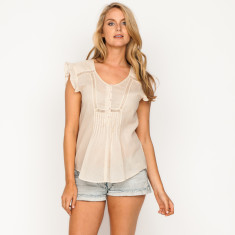 Christina plain cream top