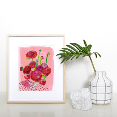 Flowers On My Table Art Print