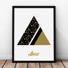 Personalised Art Deco Alphabet - Gold - Kids' Print