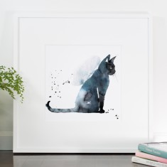 All cats are grey print