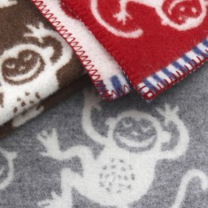 Monkey wool blanket