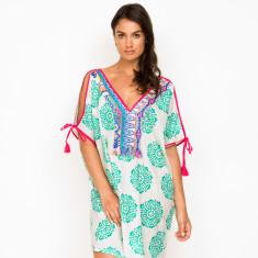 Orchid Block Aqua Dress