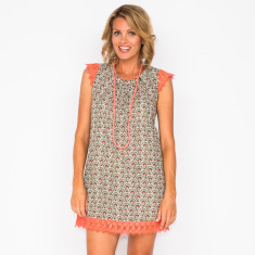 Layla shell khaki dress