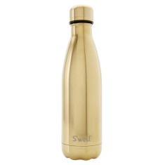 S'well insulated stainless steel bottle in Metallic 500ml Yellow Gold