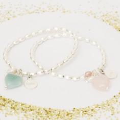 Avea Children's Personalised Heart Bracelet