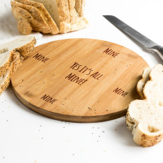 All Mine Round Bamboo Serving Board