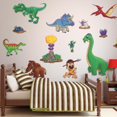 Children's dinosaur wall stickers pack two