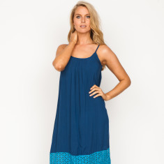 Hally plain navy maxi dress