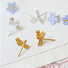 Amanda Coleman - dragonfly stud earrings