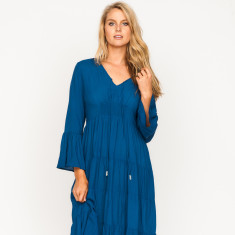 Gemma plain navy dress