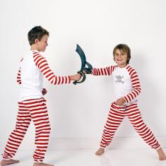Red striped skull pyjamas