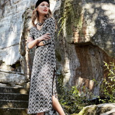 Sorrento kaftan in geometric print