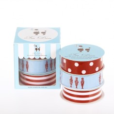Christmas toy soldier ribbon box
