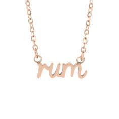 Rum word necklace