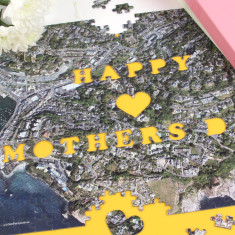Personalised Mother's Day Aerial view map Jigsaw