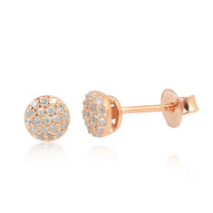Twinkle diamond studs in rose gold plate