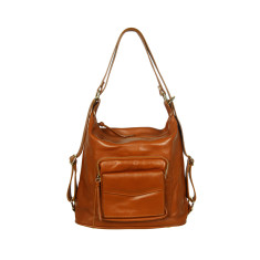 Regina full grain convertible bag in tan