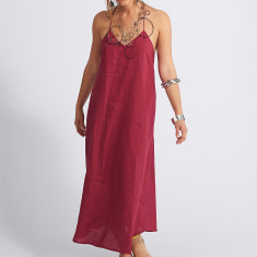Asha Swing Cross Back Linen Dress
