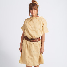 Asha Pleated Linen Top Dress