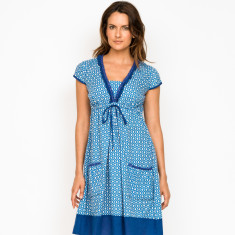 Amber Tile Blue Dress