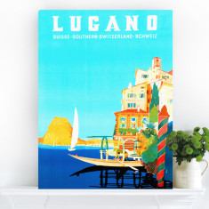 Life In Lugano | Canvas Art