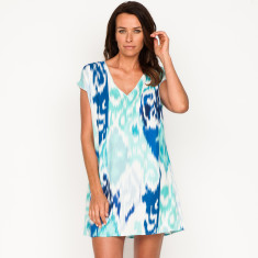 Nikki ikat navy dress